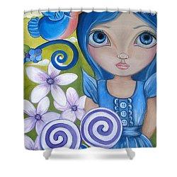 Blueberry Shower Curtain by Jaz Higgins