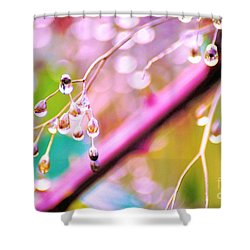 Blueberry Pearls Shower Curtain