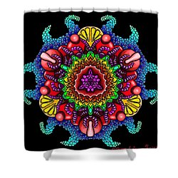 Blueberryflower Shower Curtain