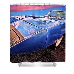 Bluebird - 1970 Plymouth Road Runner Superbird Shower Curtain by Gordon Dean II