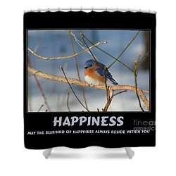 Bluebird Of Happiness Shower Curtain by Smilin Eyes  Treasures