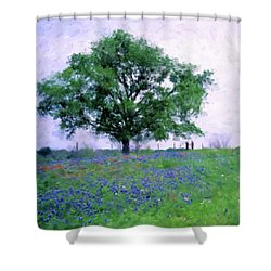 Bluebonnet Tree Shower Curtain