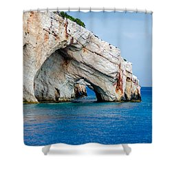 Bluecaves 3 Shower Curtain