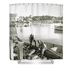 Bluefin Tuna At Barnstable Harbor Shower Curtain by Charles Harden