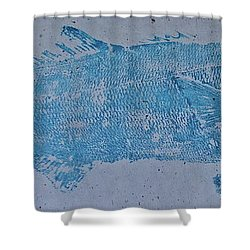 Bluefish - Chopper- Aligator Blue - Shower Curtain