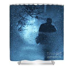 Bluemanright Shower Curtain