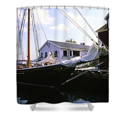 Bluenose II At Historic Properties Halifax Nova Scotia Shower Curtain
