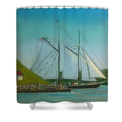 Bluenose Passing Georges Island Shower Curtain