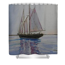 Bluenose Shower Curtain by Rae  Smith
