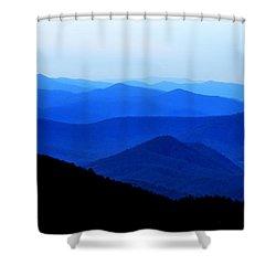 Blueridge Mountains - Parkway View Shower Curtain