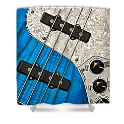 Blues Bass Shower Curtain by William Jobes
