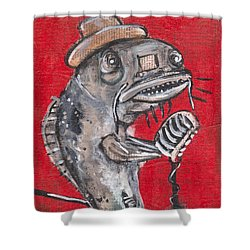 Blues Cat Singer Shower Curtain