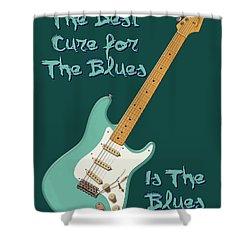 Blues Cure Seafoam Shower Curtain