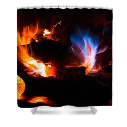 Blue's Dance Shower Curtain by Christopher Holmes