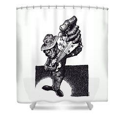 Blues Guitar Shower Curtain by Tobey Anderson