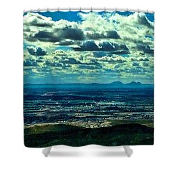 Blues In Nature  Shower Curtain