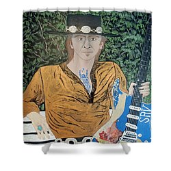 Blues In The Park With Stevie Ray Vaughan. Shower Curtain
