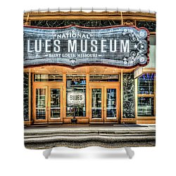 Blues Museum Shower Curtain