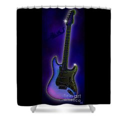Shower Curtain featuring the digital art Blues  by Nick Gustafson