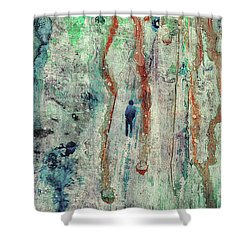 Standing In The Rain - Large Abstract Urban Style Painting Shower Curtain