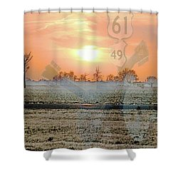 Blues Trail Shower Curtain