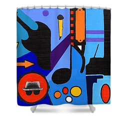 Blues1 Shower Curtain