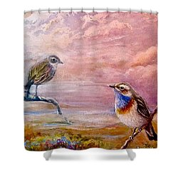 Bluethroat On The Tundra #2 Shower Curtain