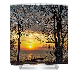 Bluff Bench Shower Curtain
