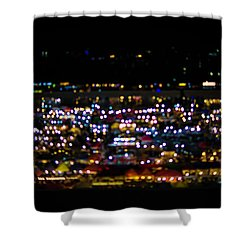Shower Curtain featuring the photograph Blurred City Lights  by Jingjits Photography