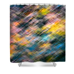 Blurred Leaf Abstract 1 Shower Curtain