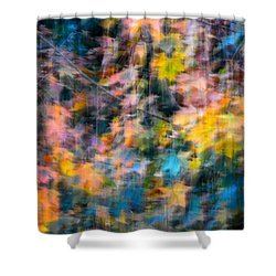 Blurred Leaf Abstract 2 Shower Curtain