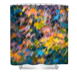 Blurred Leaf Abstract 3 Shower Curtain