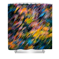 Blurred Leaf Abstract 4 Shower Curtain