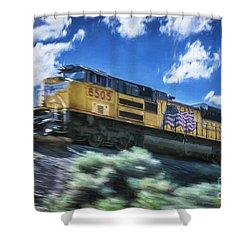 Blurred Rails Shower Curtain