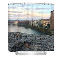 Blurred Verona Shower Curtain