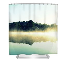 Blurry Morning Shower Curtain by France Laliberte