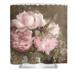 Blush Pink Peonies Shower Curtain