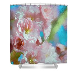 Shower Curtain featuring the digital art Blushed By The Sun by Colleen Taylor