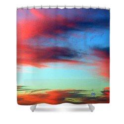 Blushed Sky Shower Curtain by Linda Hollis
