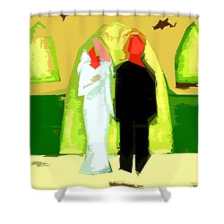 Blushing Bride And Groom 2 Shower Curtain by Patrick J Murphy