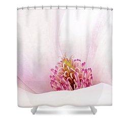 Blushing Magnolia Shower Curtain
