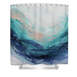 Blushing Sky Shower Curtain