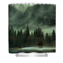 Blustery Yosemite Shower Curtain