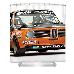 Bmw 2002 Alpina Illustration Shower Curtain