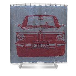 Bmw 2002 Shower Curtain by Naxart Studio
