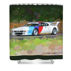 Bmw M1 Shower Curtain by Roger Lighterness