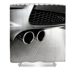 Bmw M3 Exhaust  Shower Curtain by Aaron Berg