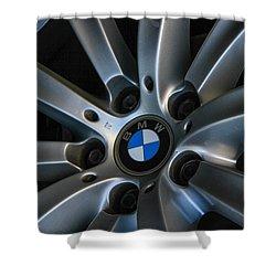 Shower Curtain featuring the photograph Bmw Wheel by Robert Hebert