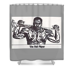 Bo Jackson The Ball Player Shower Curtain by Jeremiah Colley