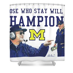 Bo Schembechler Shower Curtain